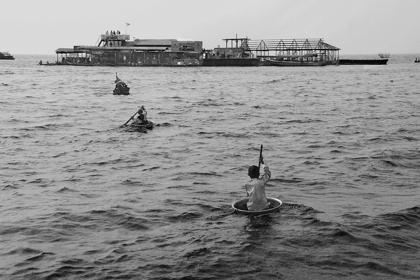 Плавучая деревня на озере Тонлесап (Камбоджа)