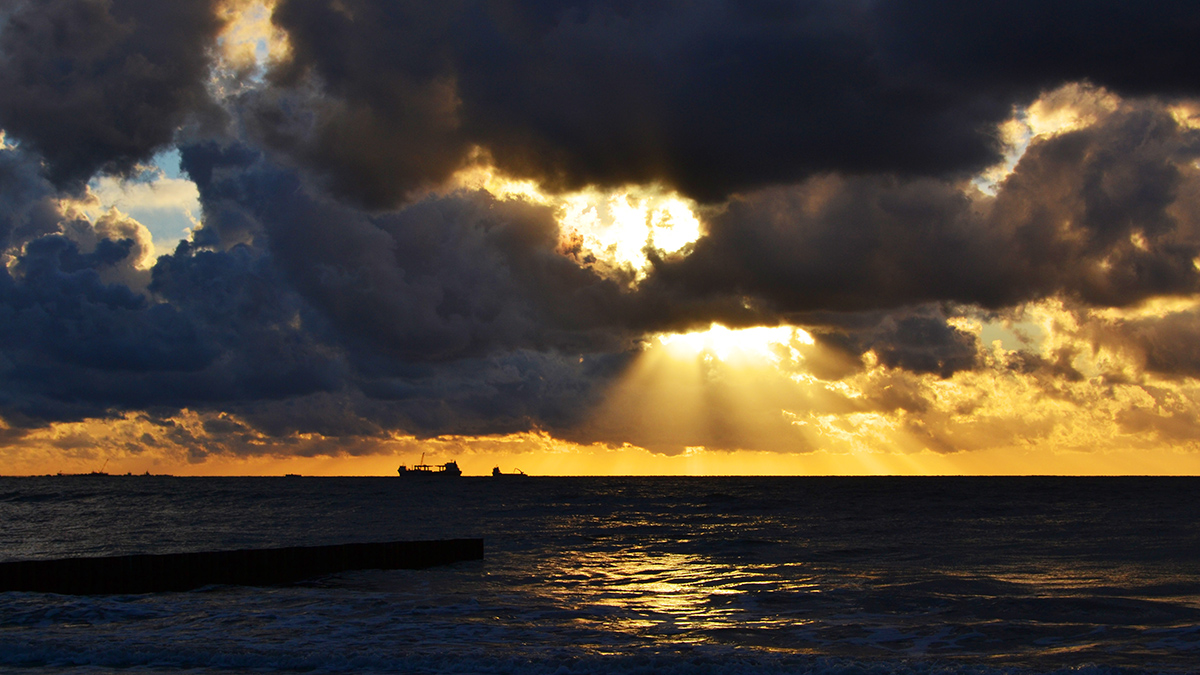 Балтийское море,зеленоградск,закат,небо,облака