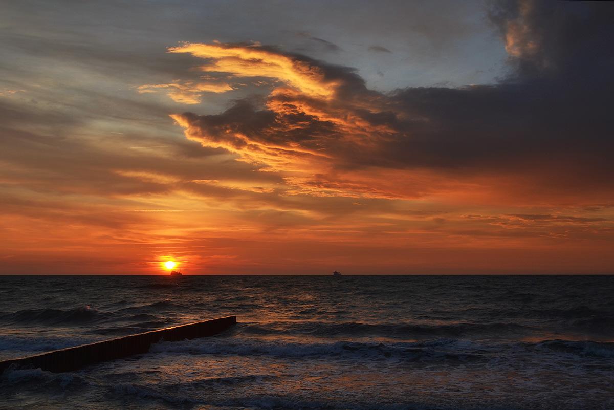 Балтийское море,Зеленоградск,небо,облака