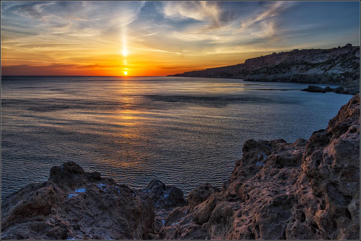 Крым, Севастополь, Фиолент, вечер