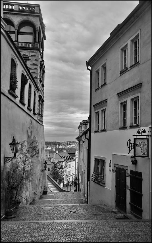 Mесто фотографирования, Ратушная лестница-Градчаны–Прага-1