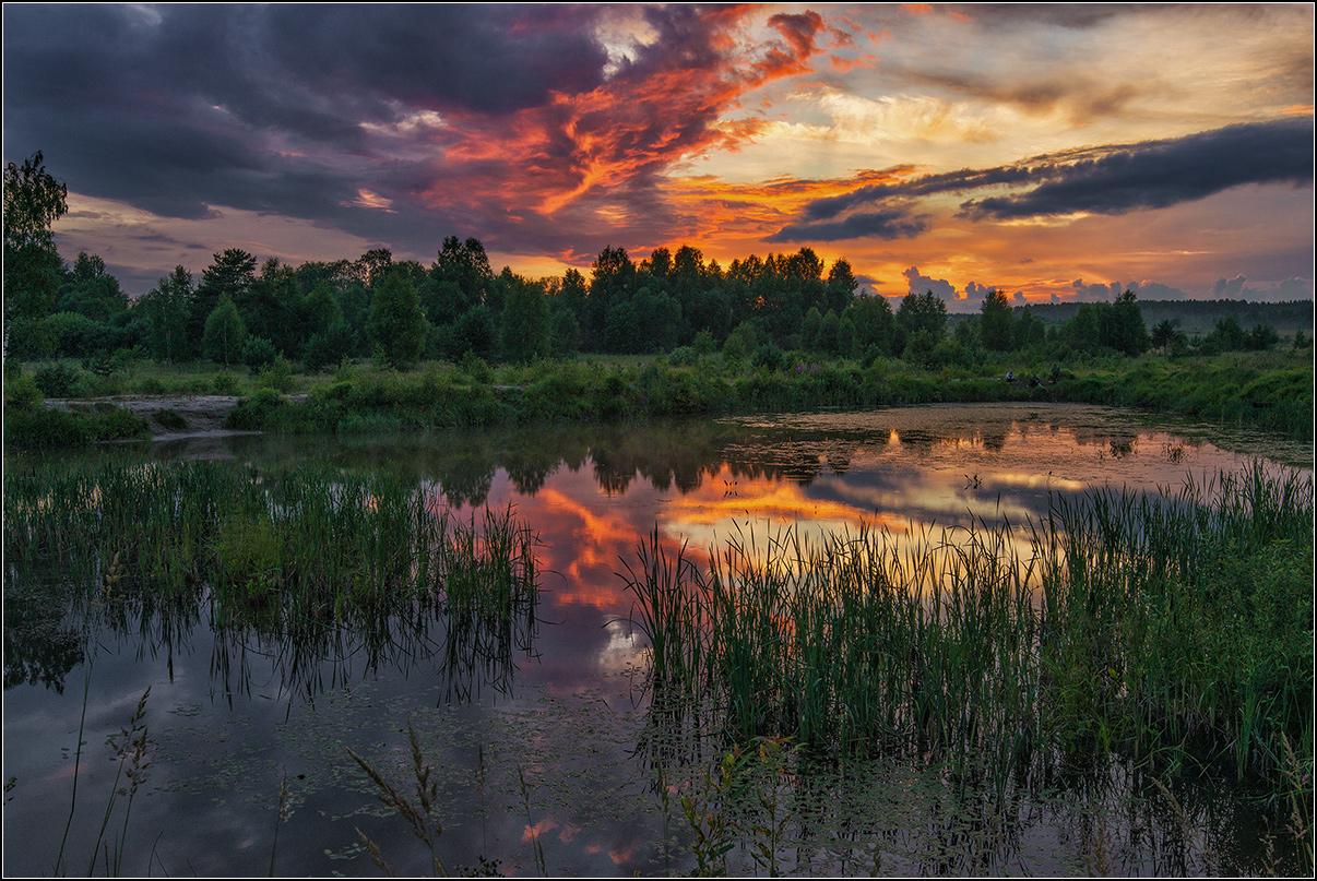 Нижегородская обл.,пруд, вечер