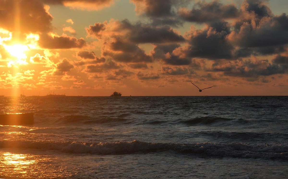 Балтийское море,закат