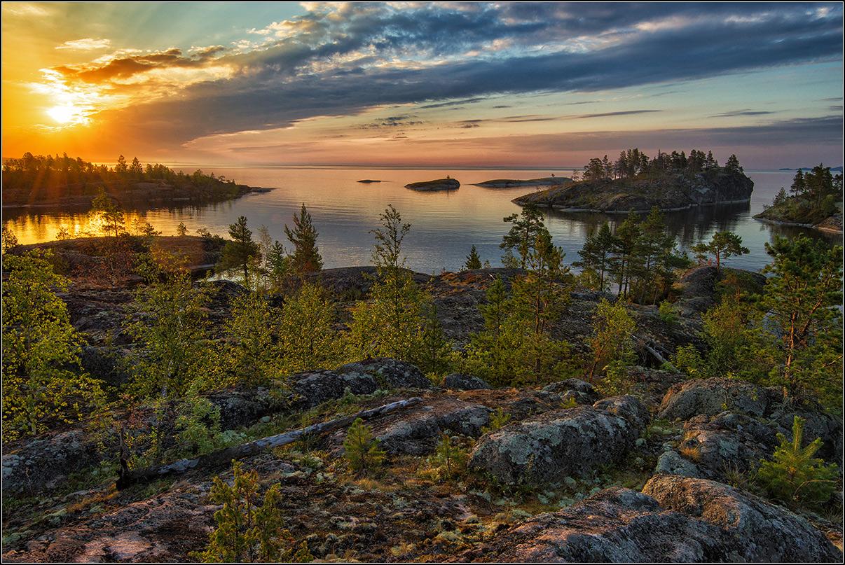 Карелия, утро, озеро