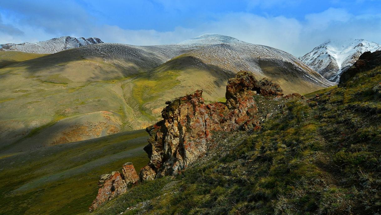 И ещё тёплому голубому небу Курайского хребта на склонах августа. Алтай-18.
