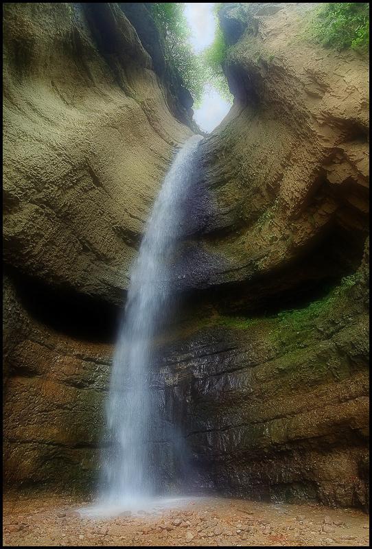 КБР, Малый Чегемский водопад. Панорама из 4-х горизонтальных кадров.