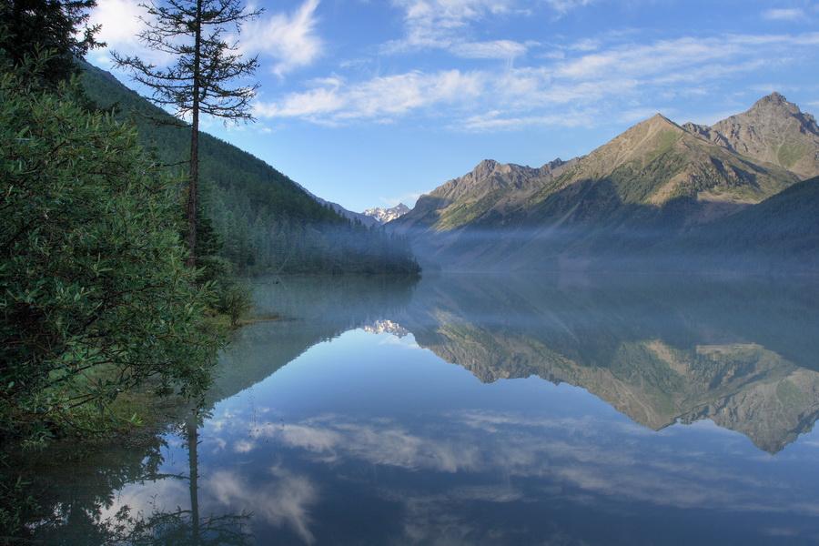 Горный Алтай, озеро Кучерлинское, август 2007 г., 7:30