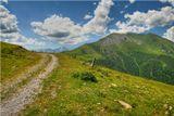 Карачаево-Черкессия, июль 2007 года. Вид на гору Пастухова. Высота - 2200м.