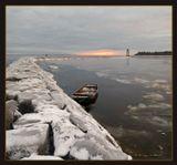 дамба лодка ноябрь