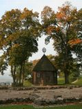 Кярнаве, это культурно-археологический резерват, расположенный в долине реки Нярис, недалеко от г.Вильнюса.На ПП фундамент, на котором ранее располагался костёл.