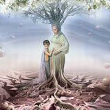 мама детство ребенок яблоня яблоки любовь плодородие