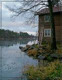 Карелия, база Гвардейское, дождливая зима пока ещё 2007...