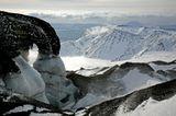Снимок сделан со склона вулкана Авачинский, на высоте 2100 метров, при температуре -23 градуса и порывистом ветре