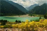 Горное озеро Иссык. 60 км на восток от Алма-Аты.