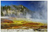 Midway Geyser Basin, Yellowstone National Park, Wyoming, USA, September 2007...