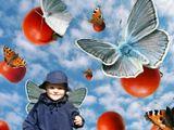 одна бабочка отпустила помидор, и превратилась в человека, точнее в ребенка