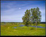 Пушкинские горы, вид на мельницу