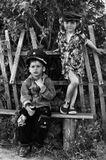 портрет, черно-белое, чб, дети