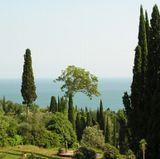 Абхазия. Вид на море от Ново-Афонского монастыря.
