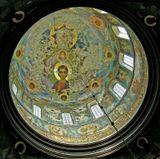 Абхазия.  Купол церкви Ново-Афонского монастыря. По-моему,нечастно увидишь на таких фресках лик молодого Исуса.