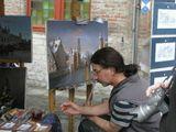 г. Брюгге, Бельгия. Художник, рисующий с натуры.