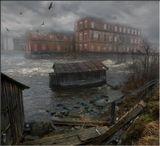 Заброшенная бумажная фабрика в Карелии