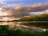 Карелия пейзаж Озеро вода лето пляж