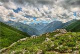 Карачаево-Черкессия, июль 2008 года. Вид с горы Пастухова. Спасибо IVH за помощь в обработке фото.