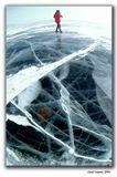 Когда впервые становишься на гладкий, почти метровый байкальский лед, из-за его прозрачности появляется ощущение опасности и боязни провалиться под него...