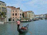 Венеция. Большой канал. На заднем плане - мост Риальто.