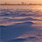 Незадолго до захода солнца. Морозно, легкая поземка...