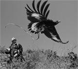 Беркутчи - охотники с ловчими птицами.