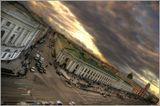 Санкт-Петербург. Угол Невского проспекта и Садовой улицы.Фотография сделана с балкона фотосалона-музея Карла Буллы.