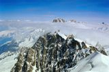 Фотография выполнена в Шамони, с вершины Монт Блангоры, вершины, Альпы, круча, пик