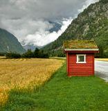 Норвегия, автобусная остановка