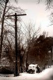Старый автомобиль зима Боровск