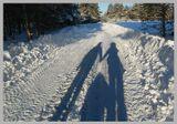 Зимняя симфония любви...или тени не исчезают в полдень...А идут, живут своею жизнью, обозначая расцвет семьи, ее нежное становление....С прадником любви всех любящих и любимых!