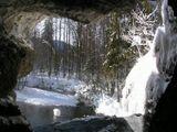 Из грота водопада Атыш (река Лемеза) средний Урал