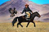 охотник с беркутом, МонголияМонголия, алтай, охота, орел, беркут, беркутчи, горы