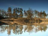 Питер, озеро, весна, отражение, отражения