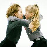 Танец на льду. Снято во время тренировки спортивной пары.