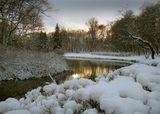 Зима Вода Снег Растительность