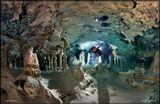 Подводная пещера TEMPLE of DOOM(Храм судьбы).  Юкатан. Мексика.Более 1км. от входа в пещеру.Свет:  4 выспышки.Ранее выкладывал фото с моделью у входа в эту пещеру:http://www.lensart.ru/picture-pid-1dece.htm?ps=18