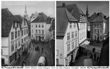 """Две фотографии, сделанные с разницей в 108 лет. Слева фото Рудольфа Лихтенберга, сделанное в 1901 году, справа моё, сделанное с той же точки в 2009 году. P.S.- Ни на одном здании, ни разу не видел таблички """"Памятник архитектуры. Охраняется государством """""""