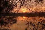 озеро закат вода отражение осень Москва
