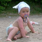 Дети, пляж, печаль