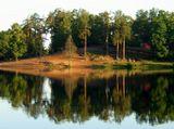 Питер, лето, озеро, отражения