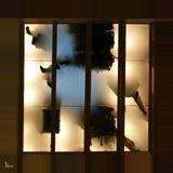 Фрагмент стеклянного потолка в одном из ТЦ с Петербурге. Над головой, на высоте, за стеклянным потолком - мода. Высокая мода. Haute couture.