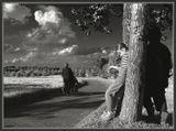 Не жанр, не постановка... точнее, есть элементы постановки (фигуры у дерева) и немного жанра (в кадр вошла женщина с инвалидной коляской)...