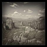Метеоры — один из крупнейших монастырских комплексов в Греции, прославленный, прежде всего, своим уникальным расположением на вершинах скал. Монашеский центр был образован около X века и с тех пор существует непрерывно. В 1988 году монастыри были включены в список объектов всемирного наследия. По административно-церковному делению входит в митрополию Стаги и Метеор